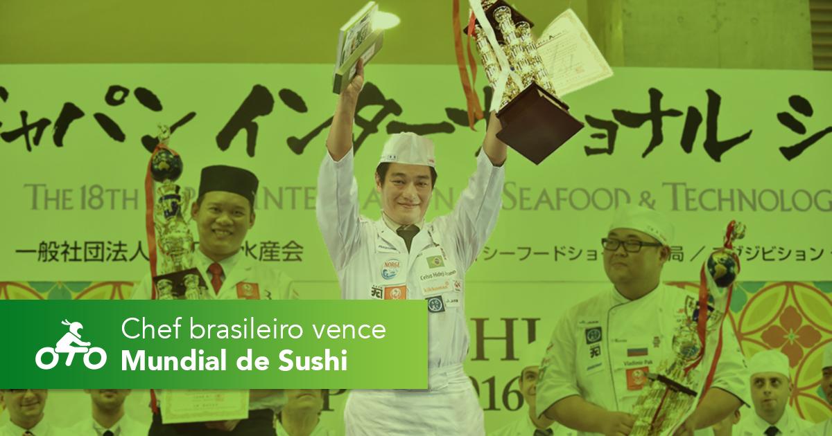 Chef brasileiro vence Mundial de Sushi em Tóquio
